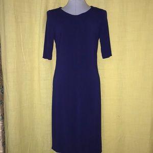Blue body con dress